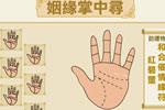 掌紋算命圖解,手相姻緣線,看手相算命圖解婚姻線